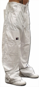 Ghast Hi-Tech Contrast Pants (White/White)