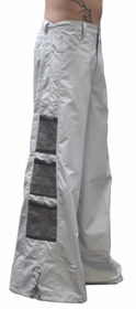 Ghast Wide  Bottom Raver Pants (Light Grey)