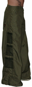 Ghast Wide  Bottom Raver Pants (Olive Green)