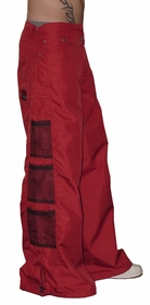 Ghast Wide  Bottom Raver Pants (Red)