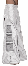 Ghast Wide Bottom Raver Pants (White)