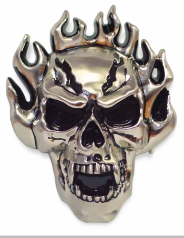 Ghostrider Skull Stash Buckle With FREE Belt<!-- Click to Enlarge-->