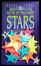Giant Glow In The Dark Rainbows Stars (18 Pack)