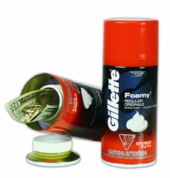 Gillette Foam Shaving Cream Diversion Safe