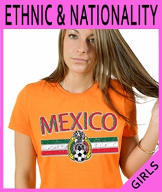 Girls Nationality & Ethnic T-Shirts