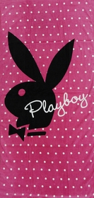 "Girly Pink Playboy Beach & Bath Towel (30"" x 60"")"