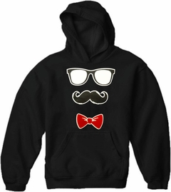 Glasses, Mustache, and Bow Tie Adult Hoodie