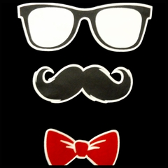 Glasses, Mustache, and Bow Tie Men's T-Shirt