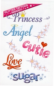 Glitter Angel/Princess  Temporary Fake Tattoos