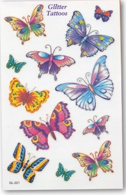 Glitter Butterfly Mix Temporary FakeTattoo