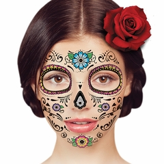 Temporary Face Tattoo - Floral Day of the Dead