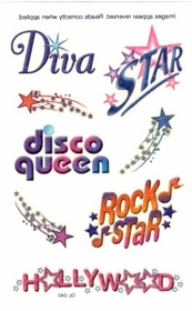 Glitter Diva Temporary Tattoo