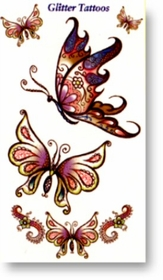 Glitter Enchanted Butterfly Tattoos