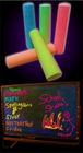 Glow Black Light Reactive Neon Chalk (Set of 5)