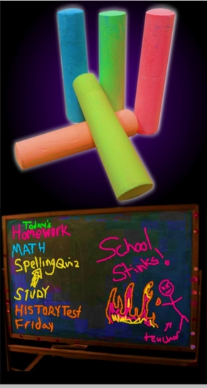 Glow Black Light Reactive Neon Chalk (Set of 5)<!-- Click to Enlarge-->