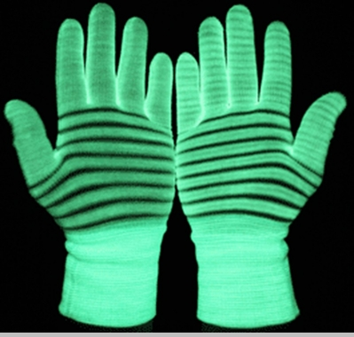 Glow Gloves  -  Glow in the Dark and Blacklight  Pair of  Gloves<!-- Click to Enlarge-->
