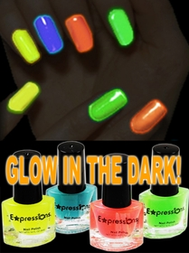 Glow In The Dark And Under Black Light Nail Polish (4-Piece Set)