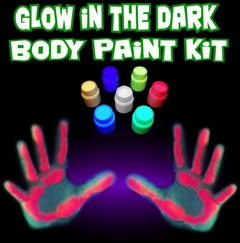 Glow In The Dark (And Under Blacklight) Body Paint Kit