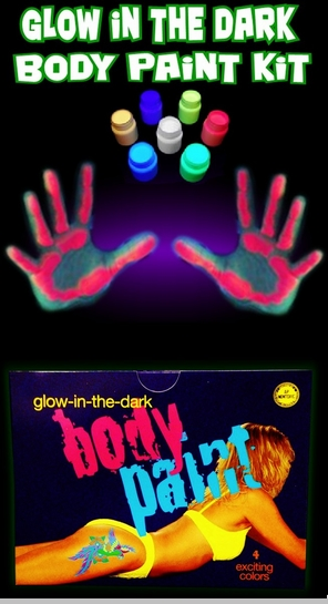 Glow In The Dark (And Under Blacklight) Body Paint Kit<!-- Click to Enlarge-->