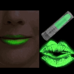 Glow in the Dark (and under Blacklight)  Super Glowing Lipstick