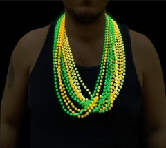 Glow in the Dark Beaded Necklaces (12 pack)