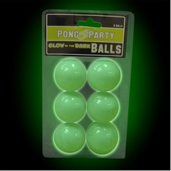 Glow in the Dark Beer Pong Balls (6 pack)
