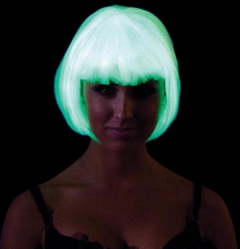 Glow in the Dark - Bob Wig (White)