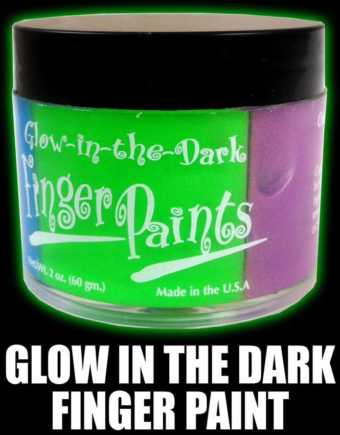 Glow in the dark finger body paint jar 4 colors - Glow in the dark paint colors ...