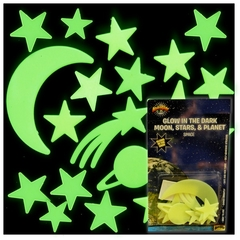 Glow in the Dark Moon, Stars & Planet (14 piece set)