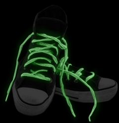 Glow in the Dark Pair of Shoe Laces (Assorted 3 Pack)
