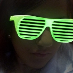 Glow in the Dark Slotted Sunglasses