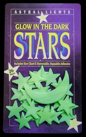 Glow In The Dark Stars With Cresent Moon (Pack of 26 Stars)