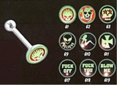 Glow in the Dark Tongue Buttons