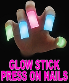 Glow Stick Press On Nails  (Set Of 5)