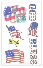 "God Bless America ""Patriotic"" Temporary Tattoo"