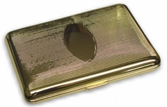 Gold Pinstriped Cigarette Case (For Regular Size Only)