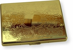 Golden Floral Paisley Cigarette Case (For Regular Size & 100's)