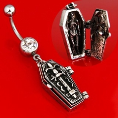 Navel Body Jewelry  - Gothic Coffin Navel Jewelry