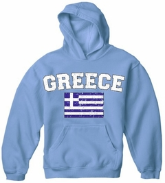 Greece Vintage Flag International Hoodie