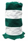 Green and White Horizontal Striped Irish St. Patrick's Day Stovepipe Hat