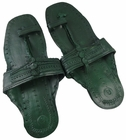 Green Unisex Water Buffalo Hippie Jesus Sandals