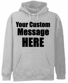 Grey Custom Hooded Sweatshirt