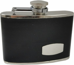 Groomsmens Gifts - Premium 4 oz. Engravable Leather Wrapped Hip Flask