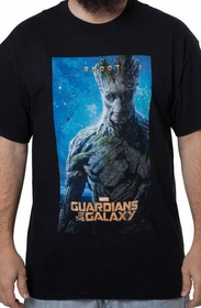 Guardians of The Galaxy - Groot Poster Mens T-shirt