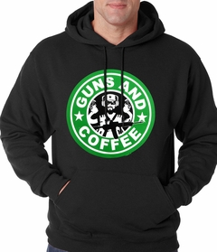 Guns And Coffee Logo Adult Hoodie