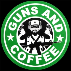 Guns And Coffee Logo Mens T-shirt