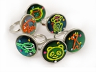Hand Painted Adjustable Mood Ring (Assorted)