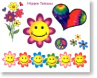 Happy 60's Temporary Tattoos