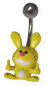 Happy Bunny Navel Jewelry (Yellow)