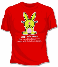 Happy Bunny The Help Of Alcohol T-Shirt